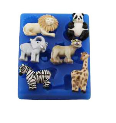 Mini Zoo Animals - A233 FIRST IMPRESSIONS MOLDS - Silicone Moulds • 8.32£