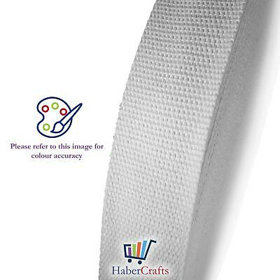 Cotton Webbing Tape Belting Fabric Strap Bag Making Strapping 25mm / 38mm Width • 2.49£
