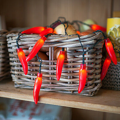 20 Red Chilli Pepper Battery Operated LED Indoor Fairy Lights Party Decoration • 10.99£