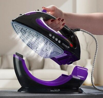 View Details EasySteam Steam Iron Ceramic Soleplate 2200W Cordless Corded 2in1 Non Stick NEW • 24.99£