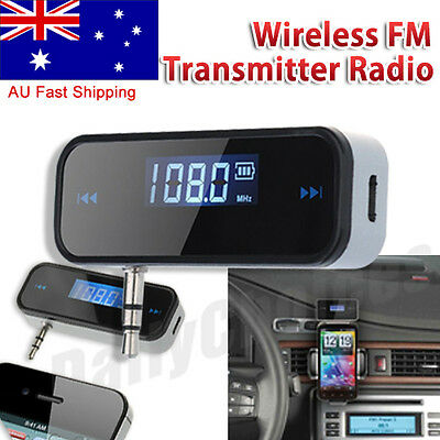 AU11.25 • Buy 3.5mm Car Wireless MP3 FM Transmitter Handsfree Radio For Mobile Phone Universal