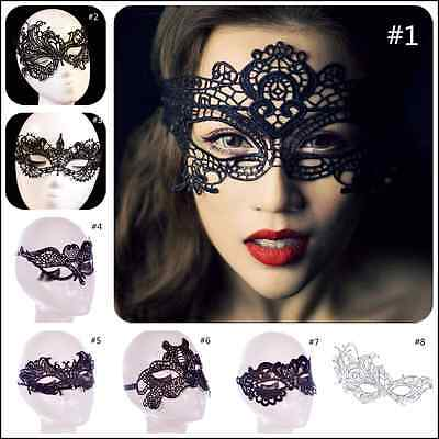 AU3.95 • Buy Sexy Black Lace Eye Mask Ladies Masquerade Ball Costume Party Fancy Dress New