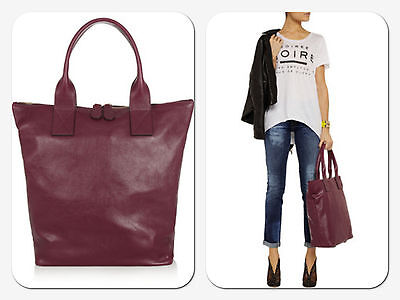 AU590 • Buy Alexander McQueen Leather Tote In Burgundy - Brand New With Tags (Never Used)