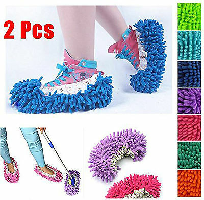 New Washable Microfiber & Coral Mop Slippers Floor Polisher Dust Remover • 3.48£