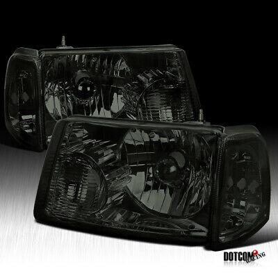 $84.99 • Buy For 2001-2011 Ford Ranger Smoke Headlights+Corner Signal Lamps Lights 4PC Pair