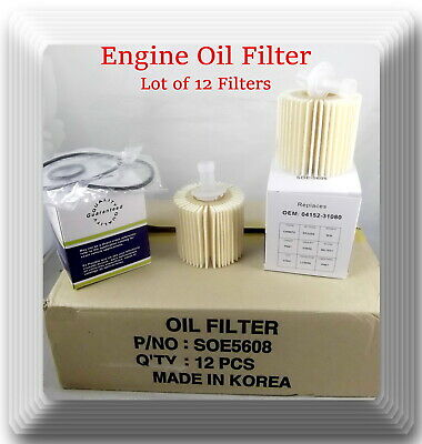 $39.25 • Buy Case Of 12 Engine Oil Filter CH9972 Fits: OEM# 04152YZZA1 Lexus Scion Toyota