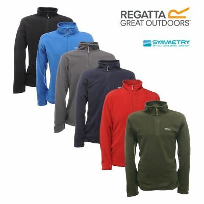 Regatta Mens Thompson Half Zip Lightweight Base Layer Micro Fleece Pullover Top • 14.99£