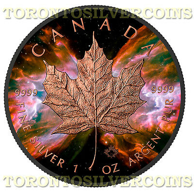 $109.95 • Buy 2016 1 Oz Silver $5 Maple Butterfly Nebula Black Ruthenium & Rose Gold Coin -NEW