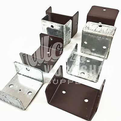 33mm 38mm 40mm 44mm 46mm 52mm GALVANISED & BROWN FENCE & TRELLIS CLIP BRACKETS • 8.99£