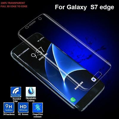 $ CDN7.52 • Buy Full Cover Tempered Glass Curved Screen Protector For Samsung Galaxy S7 Edge