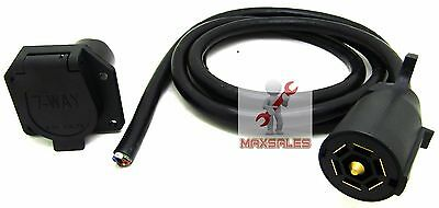 $ CDN35.29 • Buy 7-way Female Plug & 7-way Male 7ft Cable,rv Towing,trailer Brake Wiring Harness