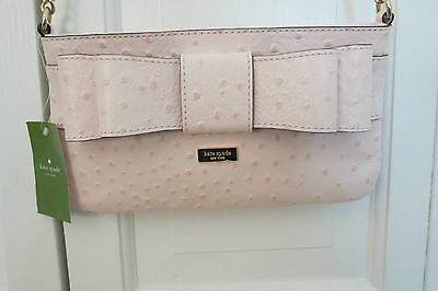 AU132.35 • Buy Cute Kate Spade Presley Ostrich Cross Body Bag – Light Pink – NWT - $268