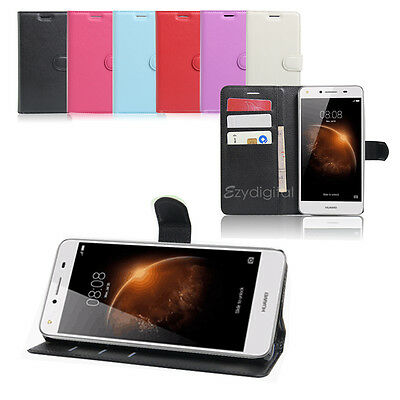 AU6.95 • Buy New Wallet Leather Case Cover For Huawei Y6 Elite Y7 4G + Screen Protector