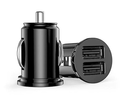 AU5 • Buy Universal Car Dual 2 Port USB Mini Bullet Charger Adapter 12V Power Black