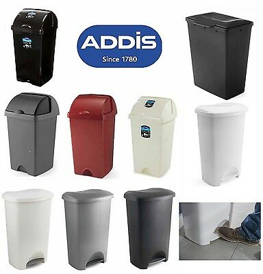 Addis 50 Litre Bin Dustbin Rubbish Paper Kitchen Waste Bin Roll Top Pedal Bins • 115.95£