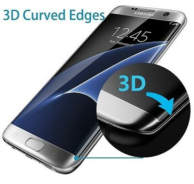 $ CDN5.17 • Buy 100% Genuine Clear 3D Tempered Glass Screen Protector For Samsung Galaxy S7 Edge