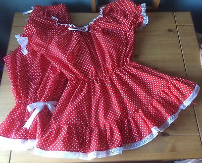 £24 • Buy Fancy Dress Victorian Swim Costume,red Spotty Bloomers, Top And Mopp Cap