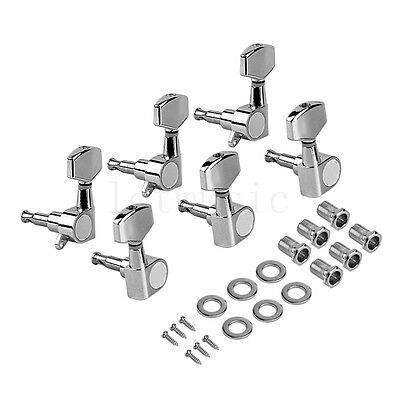 $ CDN18.62 • Buy Electric Guitar Tuning Pegs Tuners Machine Heads For Acoustic Parts 3L3R Chrome