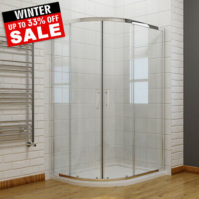 Offset Walk In Quadrant Shower Enclosure Corner Cubicle 6mm Glass Door And Tray • 102.19£