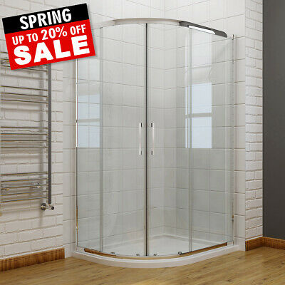 £182.99 • Buy Walk In Quadrant Shower Enclosure And Tray 6mm Easy Clean Nano Glass Optional