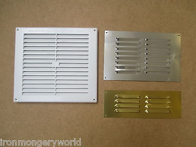 IN 3 SIZES Louvre Air Vent Louvered Ventilation Ducting Grille Cover LARGE SMALL • 3.49£