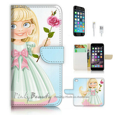 AU12.99 • Buy ( For IPhone 6 / 6S ) Wallet Case Cover P3003 Cartoon Girl