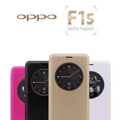 AU8.99 • Buy New Smart S-VIEW Flip Case Cover For Oppo F1S R9S R9 Plus + Screen Protector