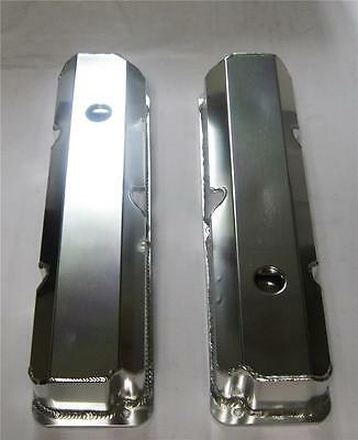 New Ford FE Tall Fabricated Aluminum Valve Covers With Hole 352 390 427 428 BBF • 92.50$