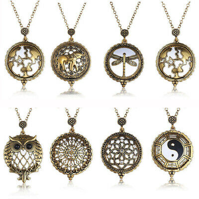 AU2.58 • Buy Vintage Tree Of Life Dragonfly Magnifying Glass Necklace Pendant Grandma Gift