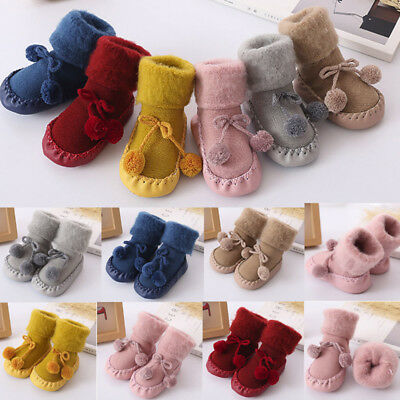 Toddler Baby Boy Girl Anti-Slip Boot Socks Cartoon Warm Step Socks Shoes Slipper • 4.65£