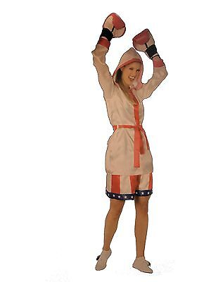 £4.35 • Buy Adult Teen Female Boxer Womens S Halloween Costume Dress Up Girls Boxing Rocky