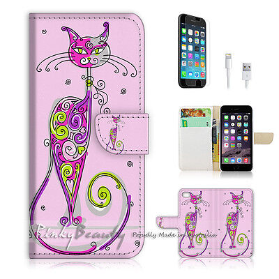 AU12.99 • Buy ( For IPhone 7 Plus ) Wallet Case Cover P0311 Pussy Cat