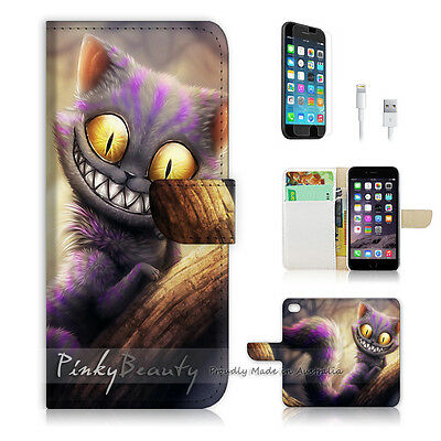 AU12.99 • Buy ( For IPhone 7 Plus ) Wallet Case Cover P0327 Cheshire Cat