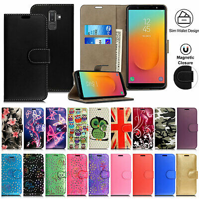 Case For Samsung Galaxy J3 J4 J5 J6 J7 J8 Leather Flip Wallet Phone Stand Cover • 2.49£