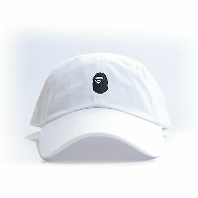 $ CDN30.32 • Buy  BAPE  Embroidered Dad Hat (BATHING APE HEAD Supreme AAPE Unsturctured ALL COLOR