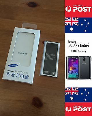 AU30 • Buy Samsung Note4 N910 Retail White Charger Kit Dock + Battery EB-BN910BBK - Local