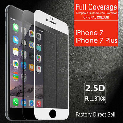 AU4.95 • Buy Full Coverage Tempered Glass Screen Protector For Apple IPhone SE X 7 8 Plus