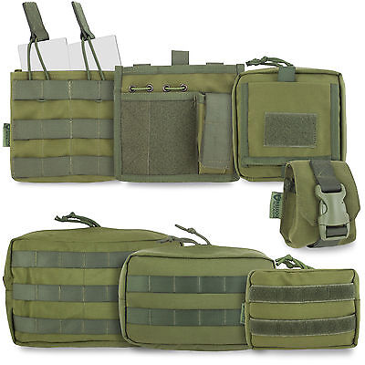 £10.80 • Buy Bulldog Tactical Military Army Cadet Airsoft Modular MOLLE Pouches Olive Green
