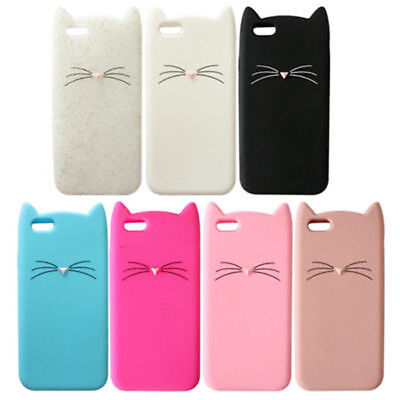 £4.32 • Buy Cute Cat Ear Silicone Soft Back Case Skin Cover For Iphone 6/6S 7 8 Plus X 10