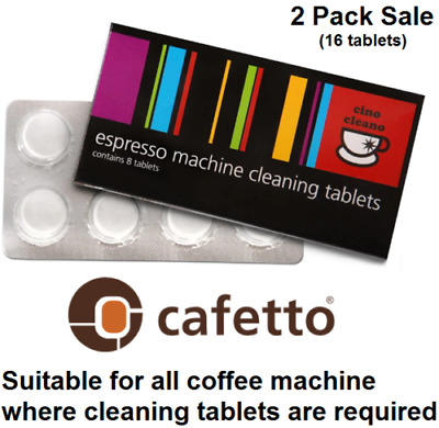 AU15.84 • Buy 2x BREVILLE Espresso Coffee Machine Cleaning Tablets Cleaner Cafetto Cino Cleano