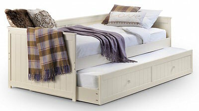 £384.99 • Buy Stone White Single Day Bed With Guest Bed Under Storage Hidden 3FT