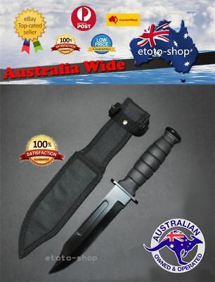 AU25 • Buy Sharp Pig Tactical Bowie Survival Camping Hunting Knife Partially Serrated