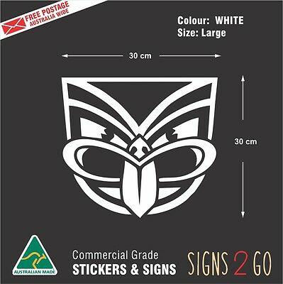 AU19.95 • Buy NZ WARRIORS CAR STICKER For Car Ute 4x4 Truck Bus Waterproof Large Size 30x30cm