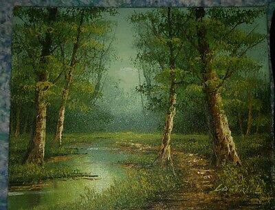 $ CDN241.91 • Buy Cantrell Original Oil On Canvas Landscape Painting Signed Unframed