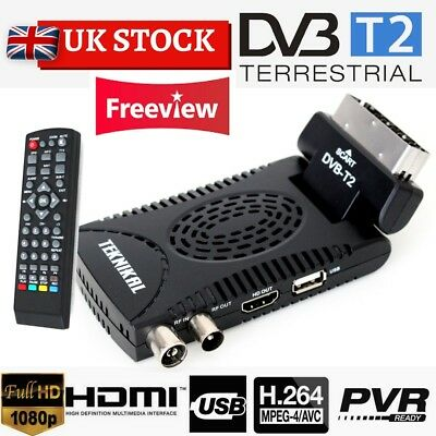 TEKNIKAL HD Scart Freeview Receiver & Recorder Set Top Box HD Channels To Watch • 19.90£