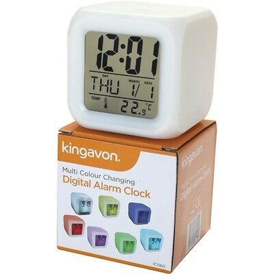 Digital Alarm Clock Illuminated Colour Changing - Ideal For Camping  • 8.95£