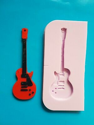 Guitar Silicone Mould For Cake Topper, Chocolate, Clay Etc • 6.50£