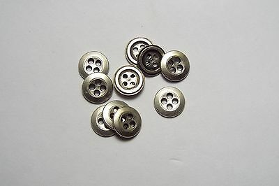 £3.17 • Buy 8pc 11mm Pewter Colour Metal Cardigan Trouser Shirt Kid Baby Button 0555