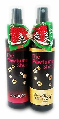 Christmas Twin Pack The Pawfume Shop, Bow, Dog Perfume,cologne,fragrance Spray  • 16.99£