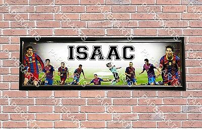 Personalized Customized FC Barcelona Name Poster Sport Banner With Frame • 28.10£